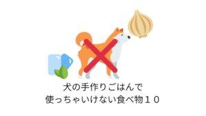 【NG】犬の手作りごはんで使っちゃいけない食べ物まとめ【活用シート付き】
