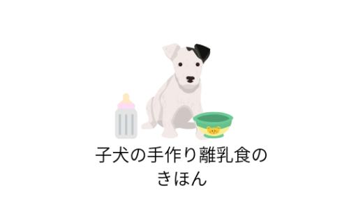 子犬の手作り離乳食のきほん!離乳期はいつから?作り方のコツまで