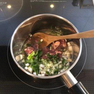 愛犬の手作りごはんの調理過程