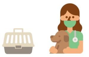動物病院とキャンピングキャリー