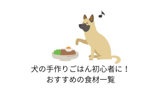 犬の手作りごはん初心者におすすめの食材一覧!まずはこれから!