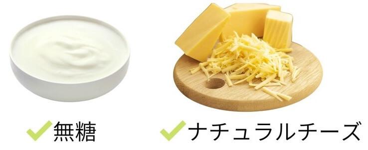 犬には無糖のヨーグルトを、チーズはナチュラルチーズを