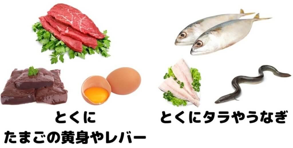 ビタミン a 食材
