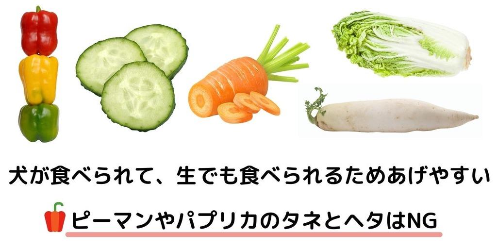 犬が食べられる生の野菜