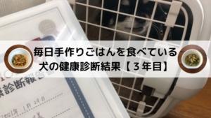 【写真付き】毎日手作りごはんを食べている犬の健康診断結果【3年目】