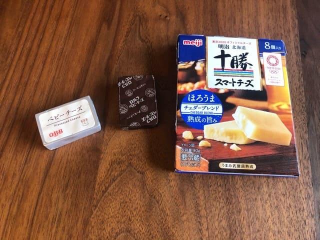 味のついたプロセスチーズ